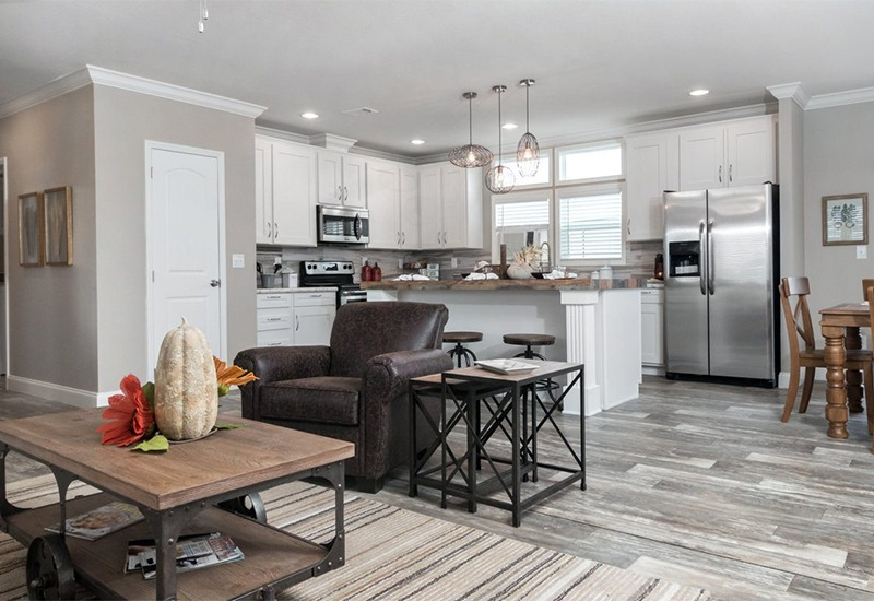Clayton Schult New Orleans Mobile Home Living Room and Kitchen