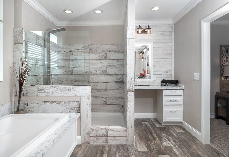 Clayton Schult New Orleans Mobile Home Master Bathroom