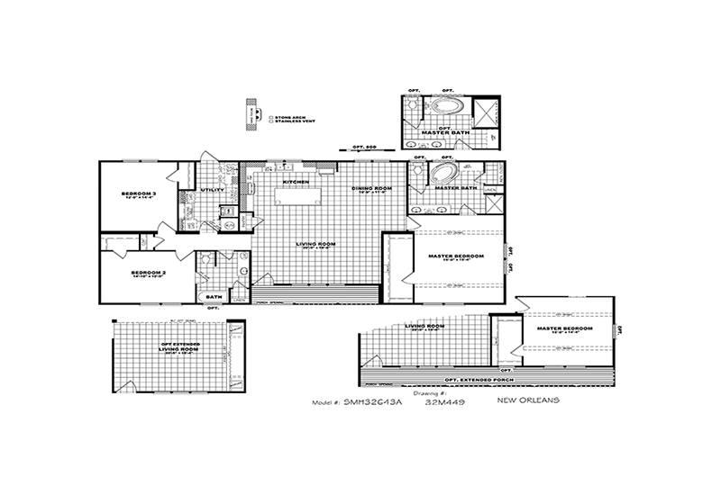 New Orleans Mobile Home Floor Plan