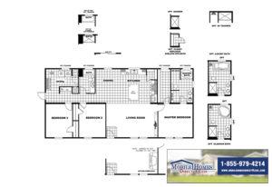 Clayton SLT28563D Mobile Home Branded Floor Plan