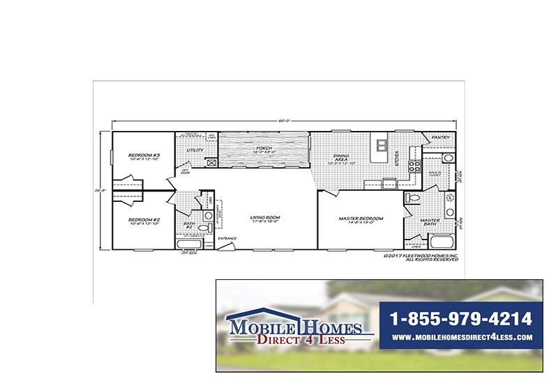 Fleetwood Weston 28603W Mobile Home Branded Floor Plan