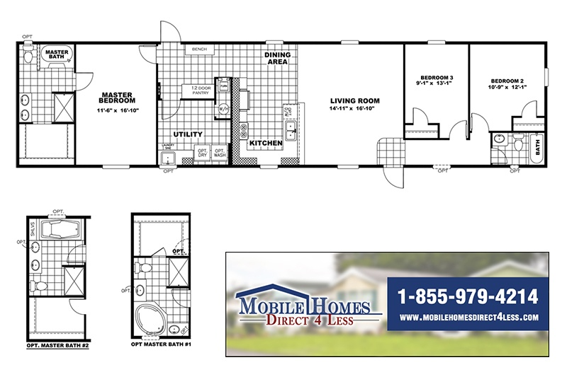Commodore Mobile Home Branded Floor Plan