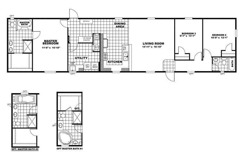 Commodore Mobile Home Floor Plan