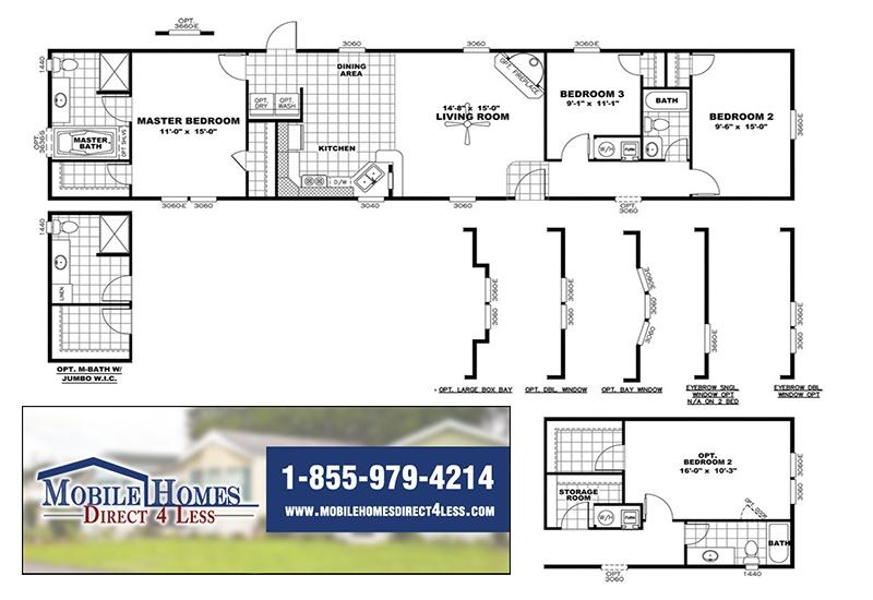 Clayton Smart Buy 16723B Mobile Home Branded Floor Plan