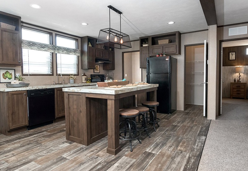 Power House Mobile Home Kitchen
