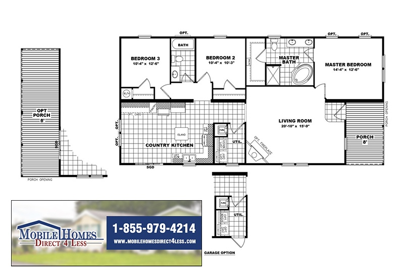 The Player Mobile Home Branded Floor Plan