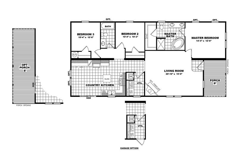 The Player Mobile Home Floor Plan