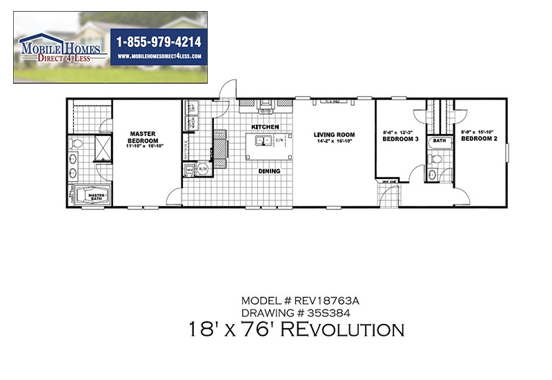Revolution Stretch Mobile Home Branded Floor Plan