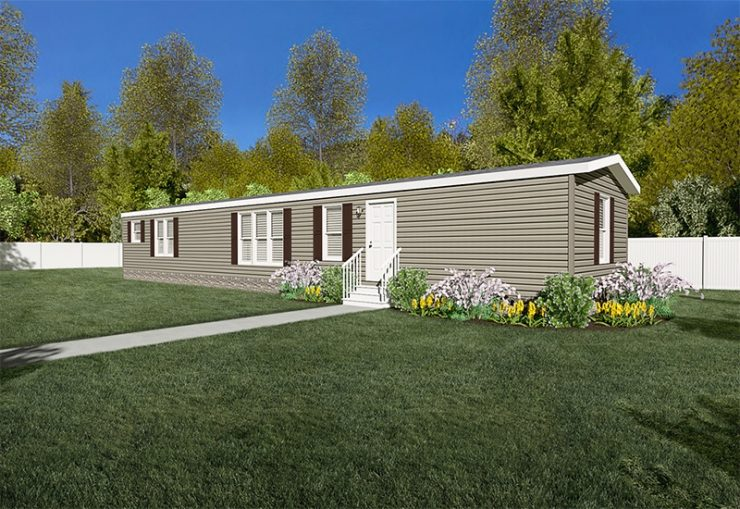 Mini Resolution Mobile Home Exterior Day