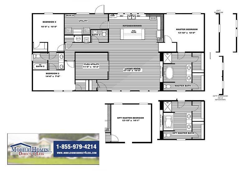 Clayton Farmhouse - Mobile Home - Branded Floor Plan