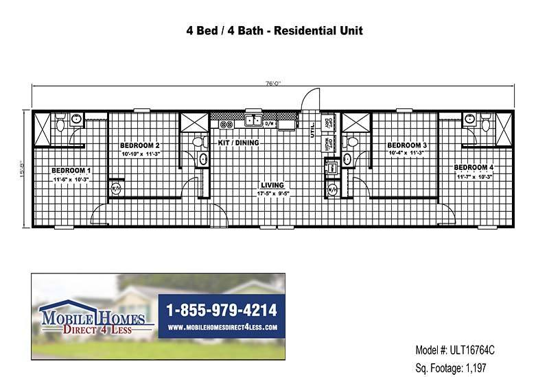 ULT16764C- Branded Floor Plan