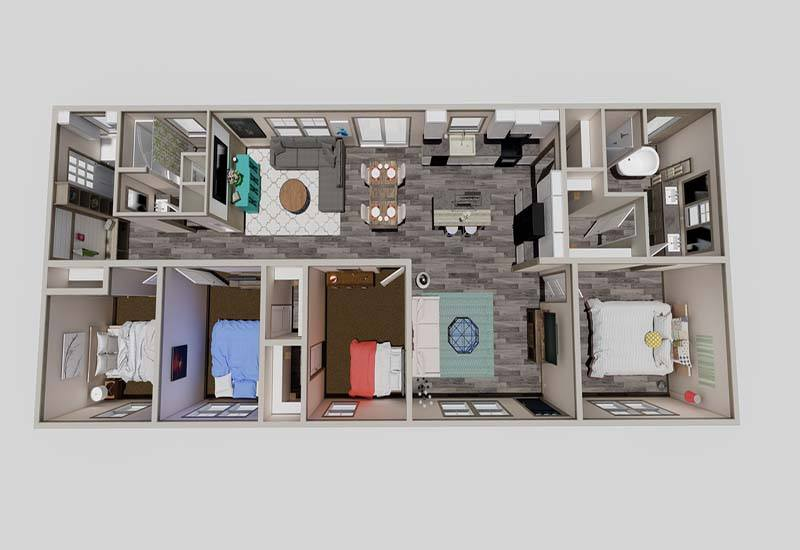 Clayton Amelia - Mobile Home - 3D Floor Plan