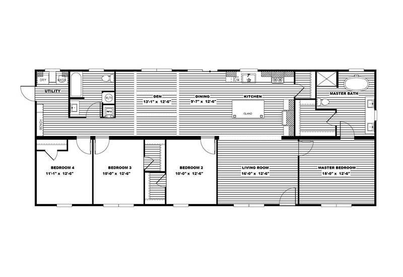 Clayton Amelia - Mobile Home - Floor Plan
