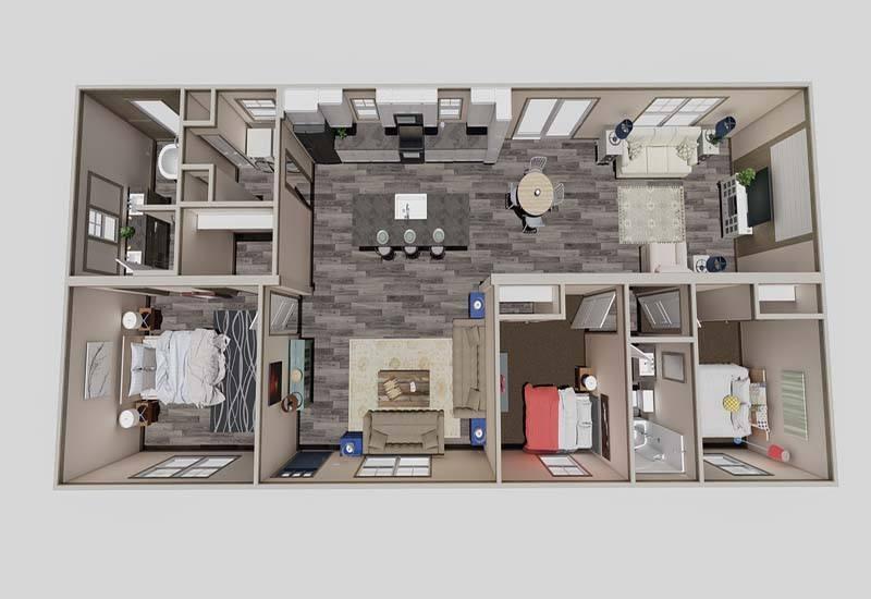 Clayton Isabella - 3D Floor Plan