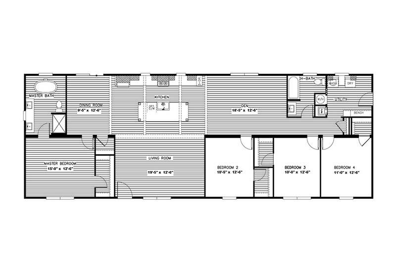 Clayton Nellie - Mobile Home - Floor Plan