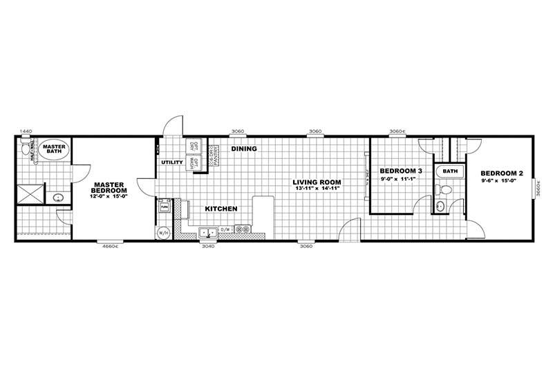 Independent - Mobile Home - Floor Plan