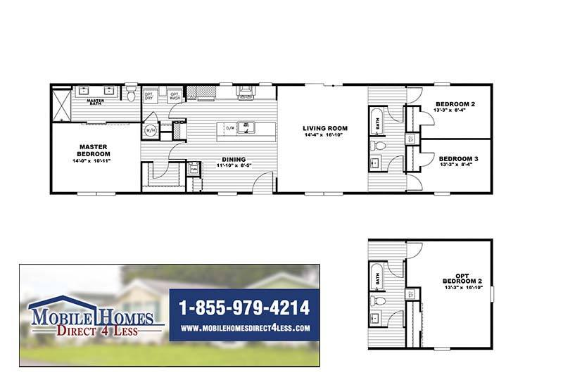The Flex Mobile Home - Branded Floor Plan