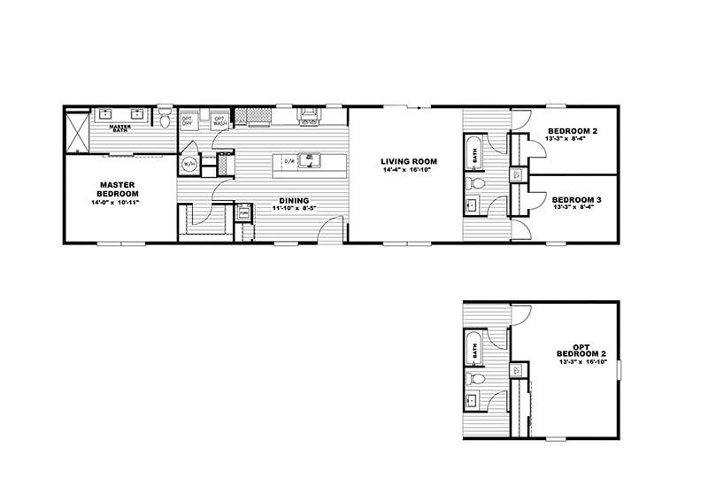The Flex Mobile Home - Floor Plan