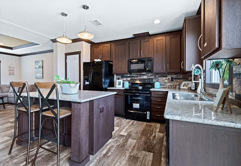Clayton Hamilton - Mobile Home - Dining Area and Kitchen