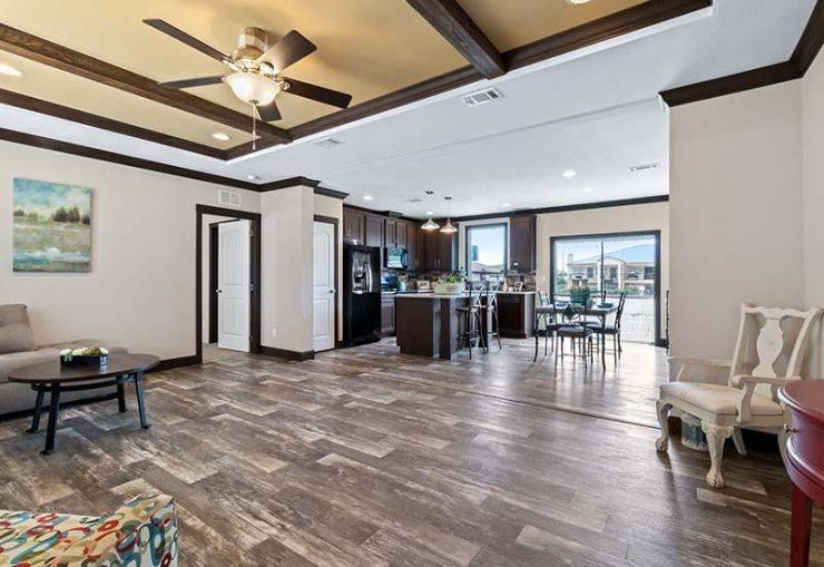Clayton Hamilton - Mobile Home - Living Area and Kitchen