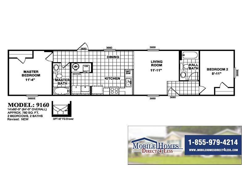 Libra Mobile Home - Branded Floor Plan
