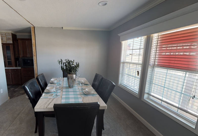 Meridian Vandaveer W64E - Triple Wide - Dining Room
