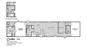 Coelho Meridian Lancaster Mobile Home Model - 348